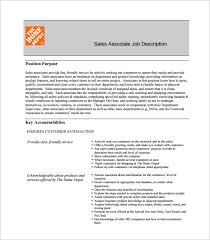 sales associate job description templates – free sample    home depot sales associate job description sample pdf template