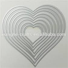 <b>Love Heart</b> Shape Sheet <b>Metal</b> Stencil/<b>craft</b> Diy Cutting Dies For ...
