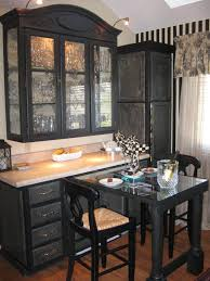Corner Cabinet Dining Room Hutch Distressed Hutch In French Country Breakfast Nook Hgtv Cabinets