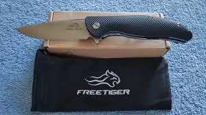 <b>FREETIGER FT801 Folding</b> Knife - Unboxing & Paper Cut Test ...