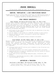 hvac resume samples student resume template hvac resume samples