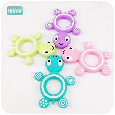 MamimamiHome Baby Toys <b>5pc Silicone</b> Lovely Turtle Food Grade ...