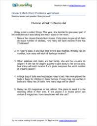Grade 3 Division Word Problem Worksheets | K5 LearningLong Division Word Problems Grade 3 Division Word Problem Worksheet