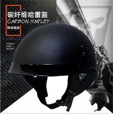 HOT SELL <b>German Pure Carbon Fiber</b> Half Face Motorcycle Helmet ...