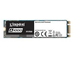 <b>A1000</b> NVMe PCIe SSD – 240GB-<b>960GB</b> | <b>Kingston</b>