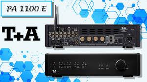 <b>T</b>+A <b>PA 1100</b> E: интегральный усилитель со встроенным ...