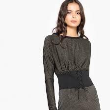 <b>Платье</b> облегающее <b>короткое</b> с длинными рукавами <b>La Redoute</b> ...