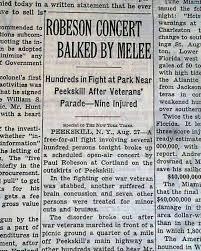 「peekskill riots 1949」の画像検索結果