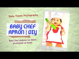 How to make <b>baby Chef Apron</b> | Baby Photography | Chef costume ...