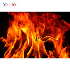 <b>Yeele</b> Fire Flame Fireplace <b>Wallpaper Party</b> Decor Pattern Portrait ...