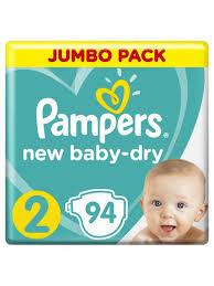 <b>Подгузники Pampers New Baby</b>-<b>Dry</b> 4-8 кг, размер 2, 94 шт ...