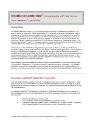 situational leadership essay