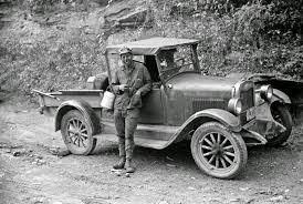 vintage everyday black and white photos of west virginia coal coal miner waiting to go home in friend s truck