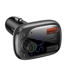 <b>Baseus T Cat Head</b> S-13 Car Bluetooth MP3 Charger PPS Fast ...