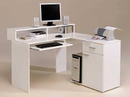 image of white corner desk with drawers cheap office drawers