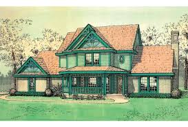 Eplans Country House Plan   Victorian Farmhouse   Square Feet    Front