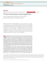 (PDF) <b>Three</b>-<b>dimensional</b> nanomagnetism