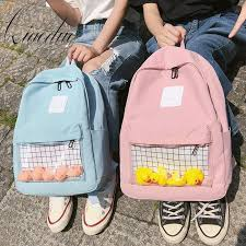 Qiaoduo Casual Clear Waterproof Womens Backpack Harajuku ...