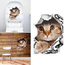 Toilet Sticker 3D Animal Pet Wall Sticker Decorative ... - Vova