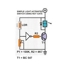 how digital logic gates function light activated switch using a not gate image