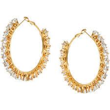 <b>Ellen Conde Позолоченные серьги-кольца</b> с кристаллами ...
