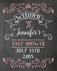 <b>Welcome Baby Shower</b> Sign. Chalkboard <b>Welcome</b> sign. Printable ...