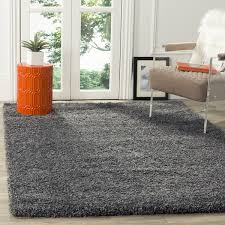 safavieh california cozy solid dark grey shag rug california shag black 4 ft