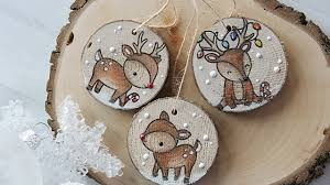 How to make <b>wooden</b> Christmas <b>ornaments</b> and tags - YouTube