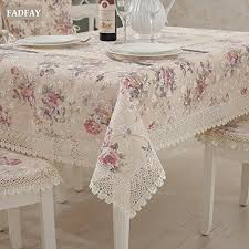 rectangular dining table cover cloth knitted vintage: fadfay vintage floral tablecloth beige lace table cloths for weddings by fadfay