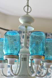a diy mason jar chandelier adds charming light to any living room or dining room in diy vintage mason jar chandelier