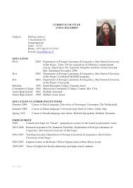 resume cv example  example cv resume sample  curriculum sample    academic curriculum sample vitae cv examples