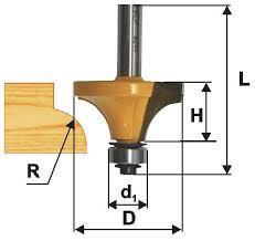 <b>Фреза</b> кромочная калевочная 22,2 x <b>13 мм</b> R4,8 мм хвостовик 8 ...