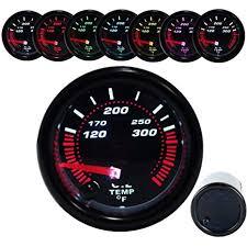 2 52mm colorful oil temp gauge celsius 12v car inch 7 color led light instrument universal auto digital temperature meter