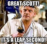 GREAT SCOTT! IT's A LEAP SECOND! - Doc Back to the future | Meme ... via Relatably.com