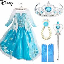 Disney Frozen Elsa Dress Anna <b>Girl's Dresses Princess Party</b> Dress ...