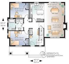 House plan W detail from DrummondHousePlans com    st level House plan   cathedral ceiling  master bed   ensuite  open kitchen