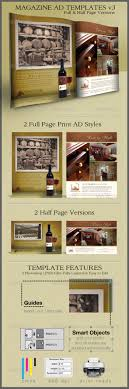 print ad templates v full half page designs by cursiveq print ad templates v3 full half page designs commerce flyers