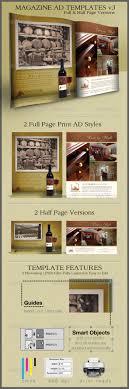 Print Ad Templates v3 Full & Half Page Designs by CursiveQ ...