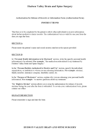 doc release of information form template printable clerical resume examplesdoc460595 authorization to release release of information form template