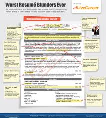 resume mistakes worst ever blunders you need to avoid infographic worst resume blunders ever