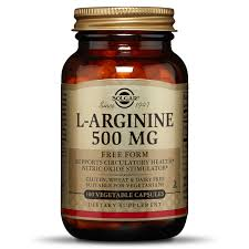 <b>L</b>-<b>Arginine 500</b> mg Vegetable <b>Capsules</b> - Solgar