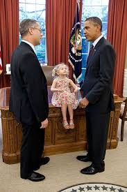 president obama talks with andrew kline outgoing chief of staff office of intellectual property enforcement in the oval office july klines daughter barack obama enters oval