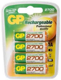 <b>Аккумулятор GP 2700 AA</b> 4 шт купить в интернет-магазине ...