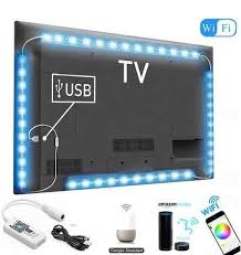 <b>USB LED</b> strip light lamp Wifi <b>RGB SMD 5050</b> 4X50cm 2x50cm + ...