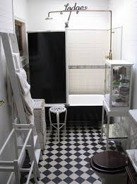 traditional style antique white bathroom: shower curtain for clawfoot tub bathroom traditional with antique bathroom black white