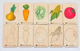 """Деревянные <b>карточки</b> - вкладыши """"Овощи"""", игрушка из дерева ..."""