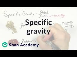 Specific gravity (video) | Fluids | Khan Academy
