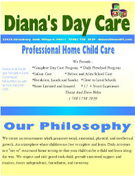 dianas day care brochure