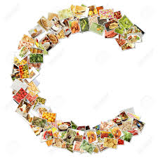 letter c food collage concept art stock photo picture and letter c food collage concept art stock photo 9691842