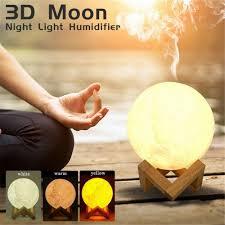 <b>880ML Ultrasonic Moon Air</b> Humidifier Aroma Essential Oil Diffuser ...